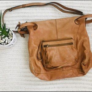 Lucky Brand Large Leather Hobo Bag